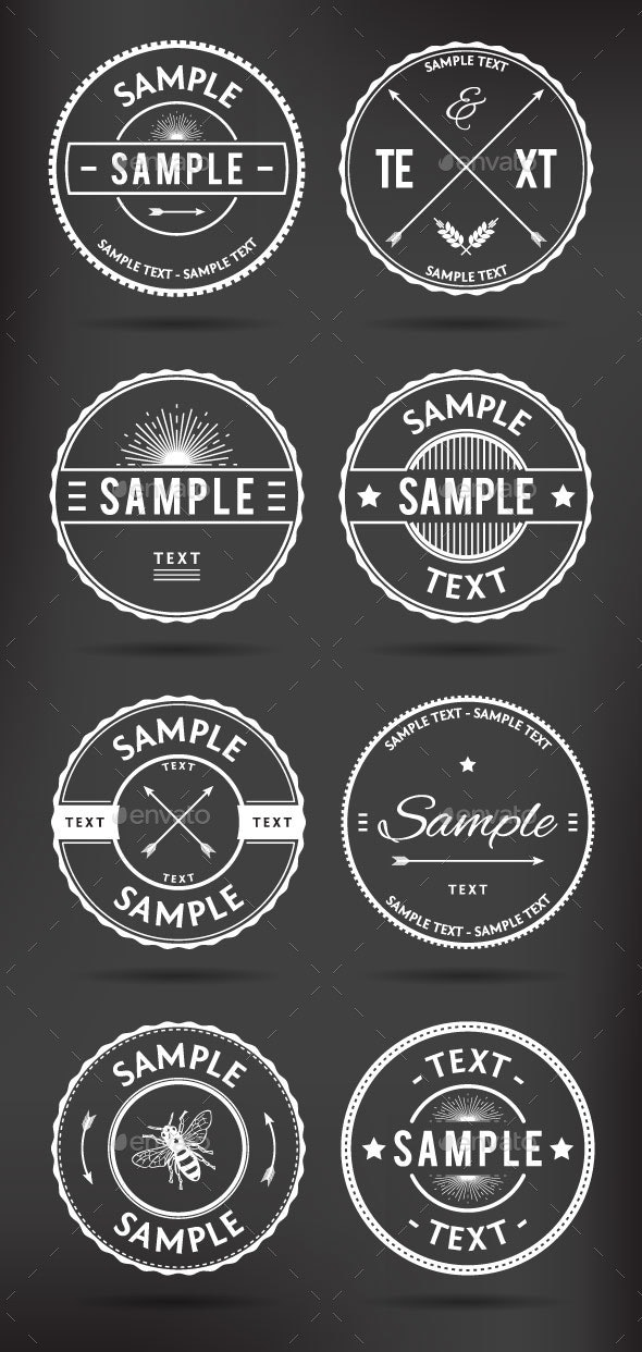 Retro Badges - Decorative Symbols Decorative