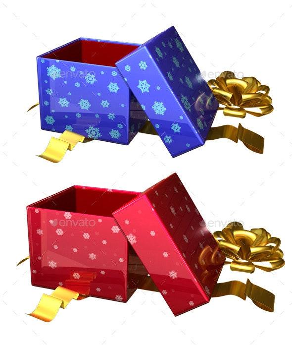 Open Gift Box - Objects 3D Renders