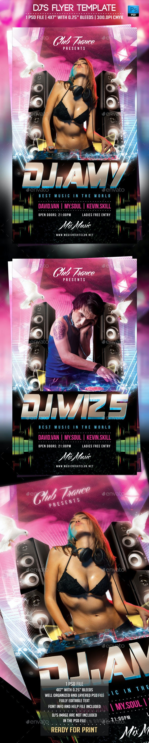 DJ's Flyer Template - Clubs & Parties Events
