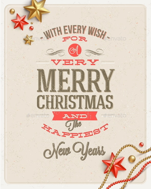 Christmas Type Design and Holidays Decoration - Christmas Seasons/Holidays