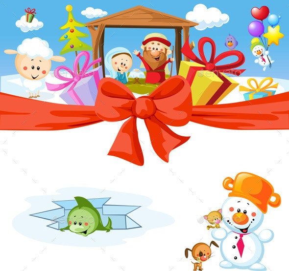 Christmas Design with Nativity - Miscellaneous Characters