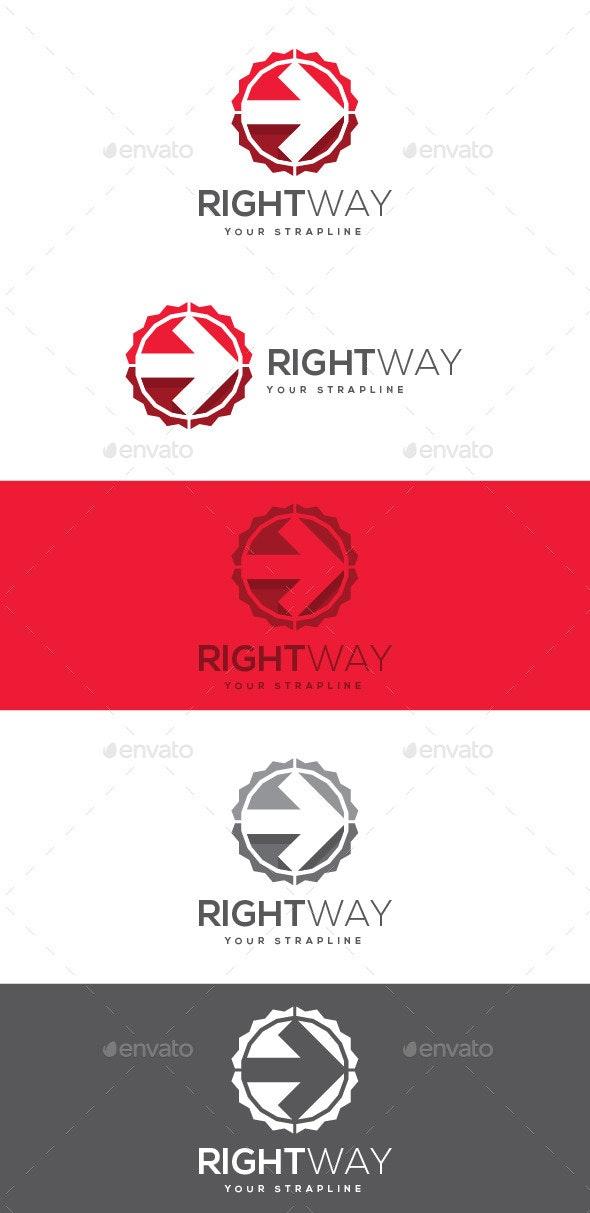 Right Way Logo - Symbols Logo Templates