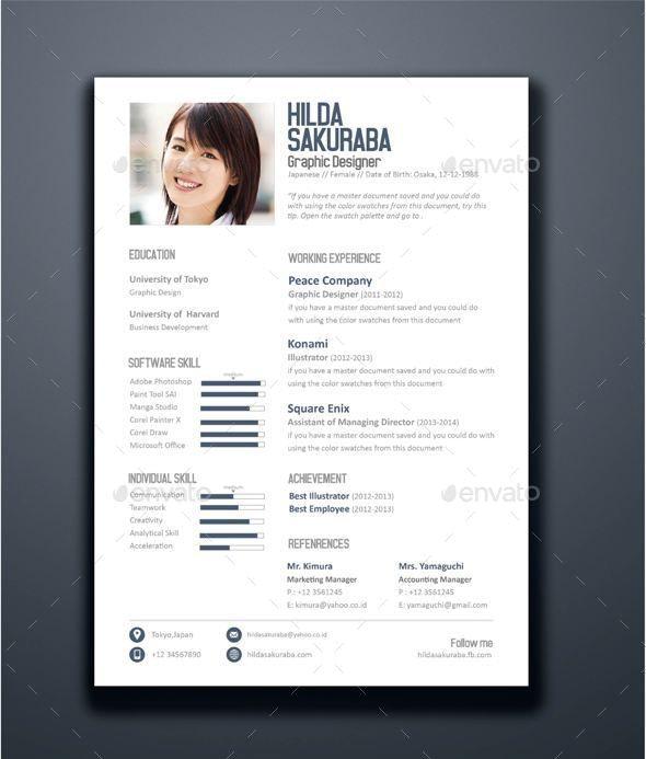 Fresh Resume Vol.1 - Resumes Stationery