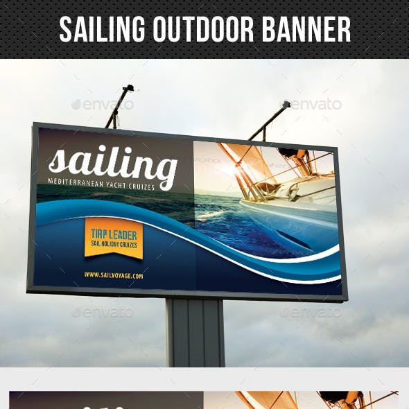 Sailing Yacht Trip Outdoor Banner