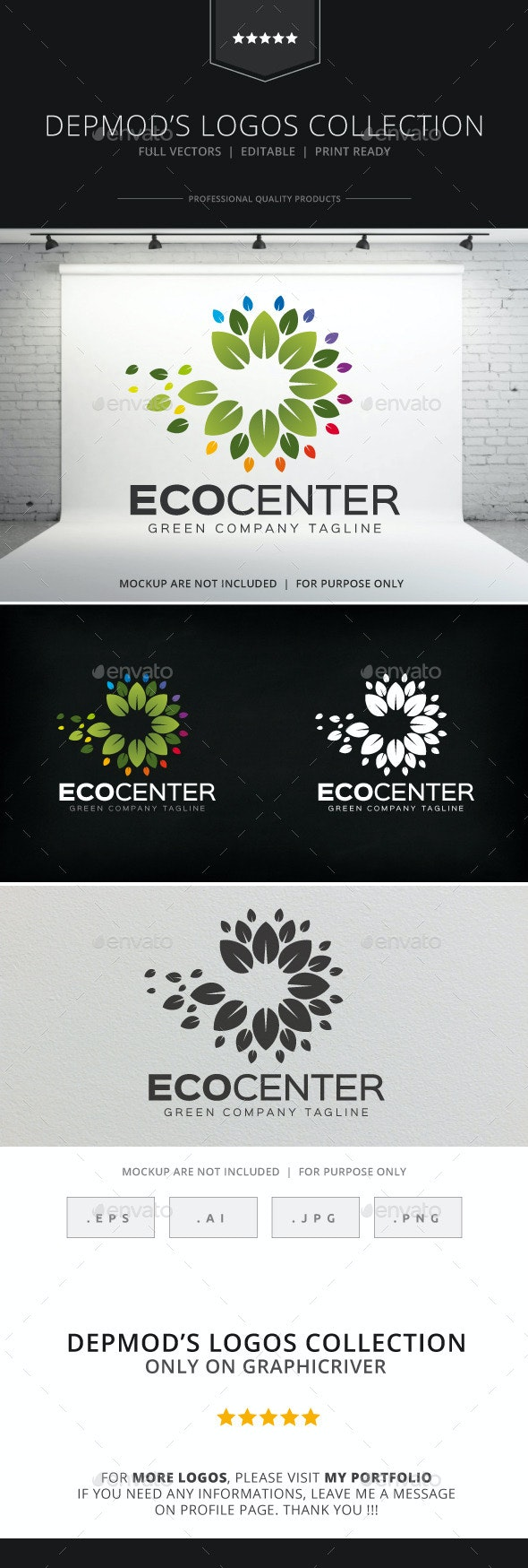 Eco Center Logo - Nature Logo Templates