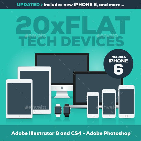 20 Flat Tech Devices