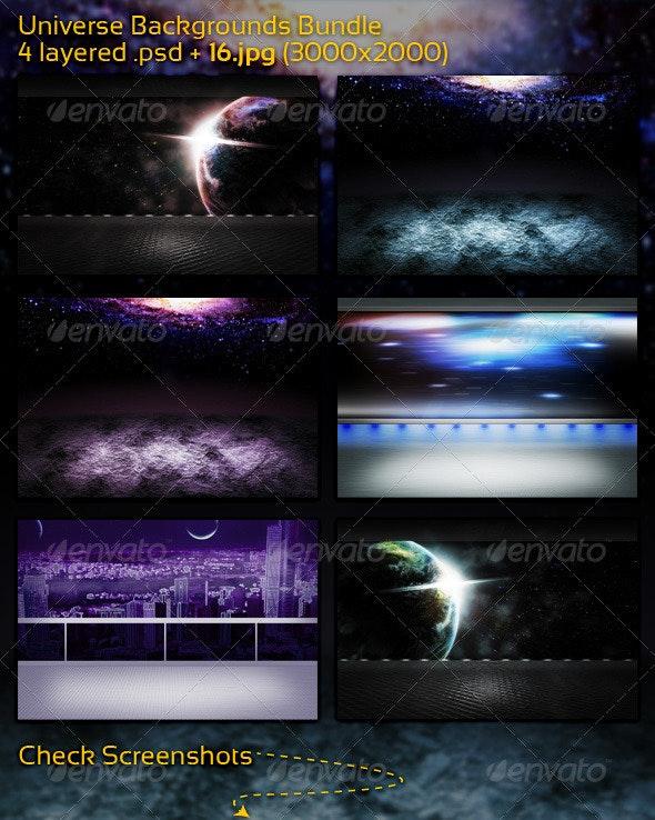 Universe Backgrounds Bundle - 3D Backgrounds