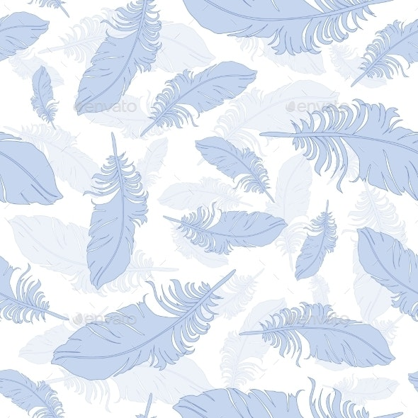 Plumage Background Seamless Pattern Vector. - Patterns Decorative