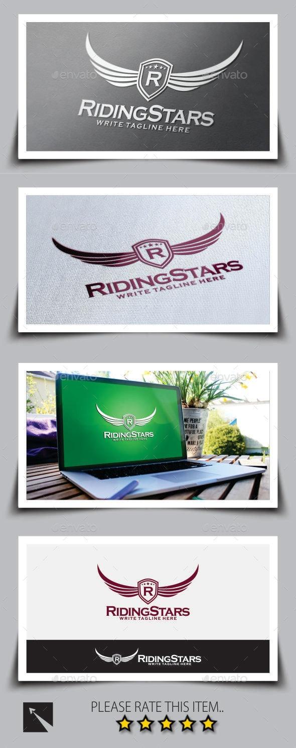 Riding Stars Logo Template - Crests Logo Templates