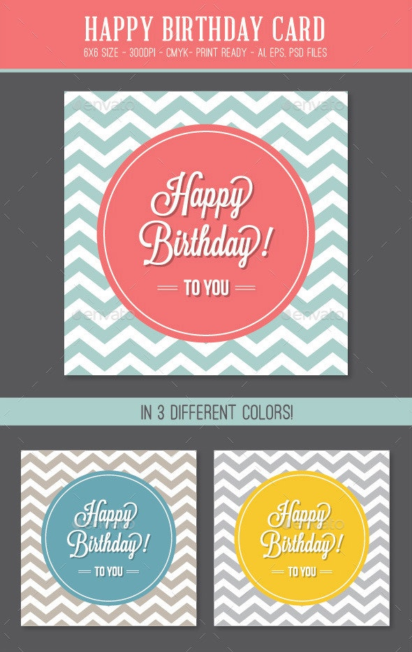 Happy Birthday Card - Birthday Greeting Cards