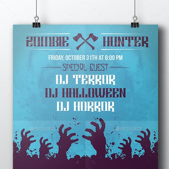 Zombie Halloween Party Flyer