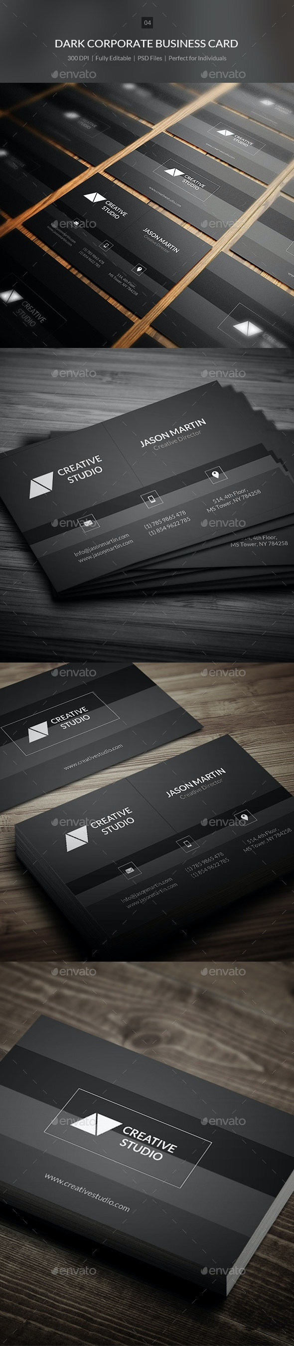 Dark Corporate Business Card - 04 - Corporate Business Cards