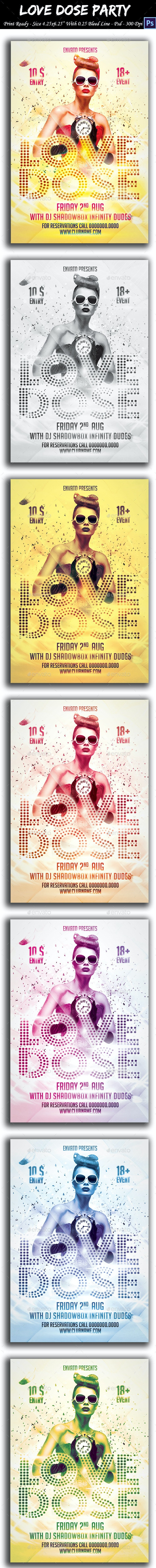 Love Dose Party Flyer - Clubs & Parties Events