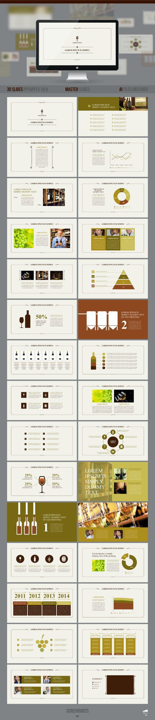 Presentation of Wine - Business PowerPoint Templates