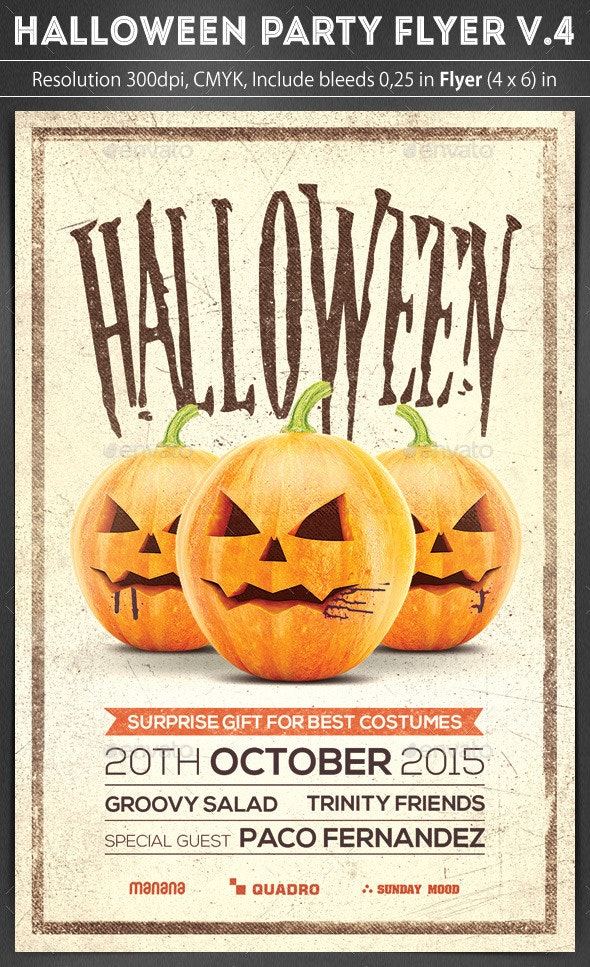 Halloween Party Flyer  v.4 - Clubs & Parties Events