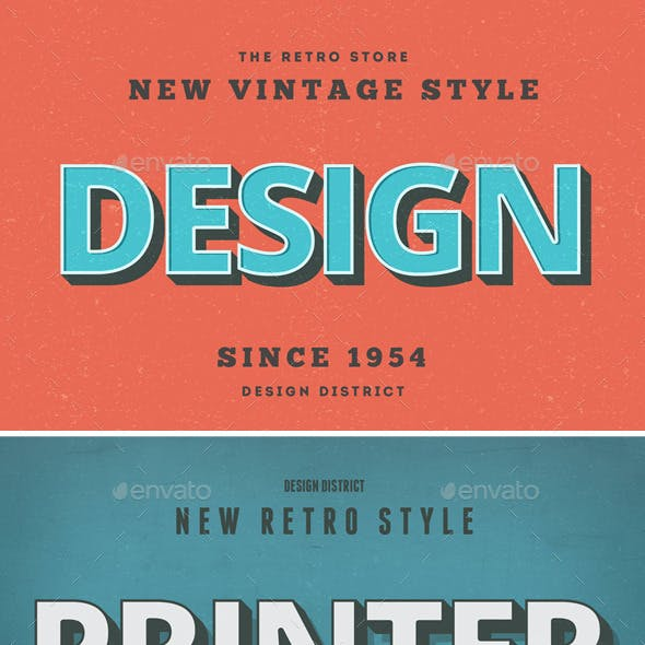 Retro Text Effects - Vintage Style