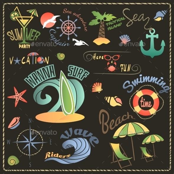 Travel Labels Set - Travel Conceptual