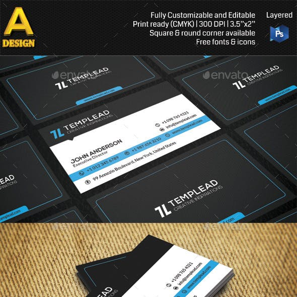 Modern Corporate Business Card AN0425