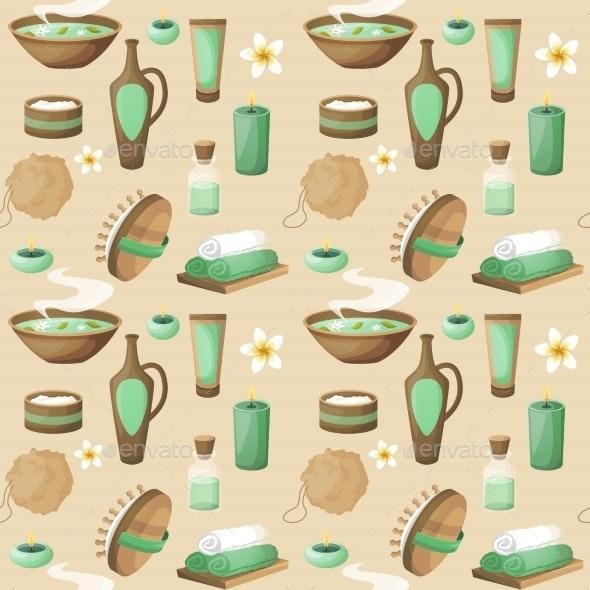 Spa Seamless Pattern - Backgrounds Decorative