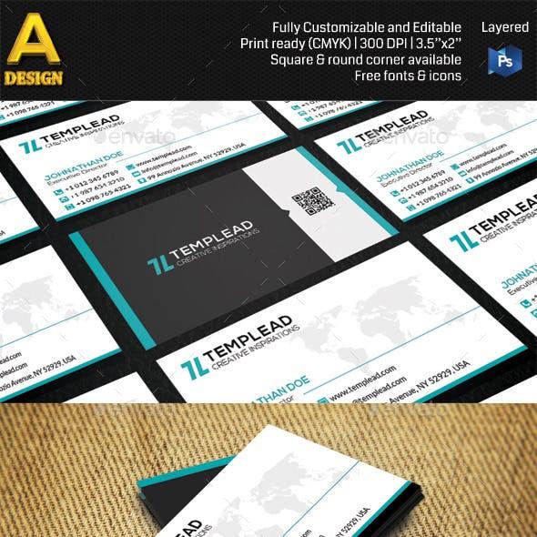 Modern Corporate Business Card AN0427