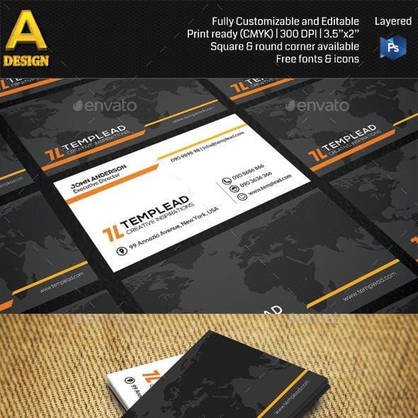 Modern Corporate Business Card AN0432