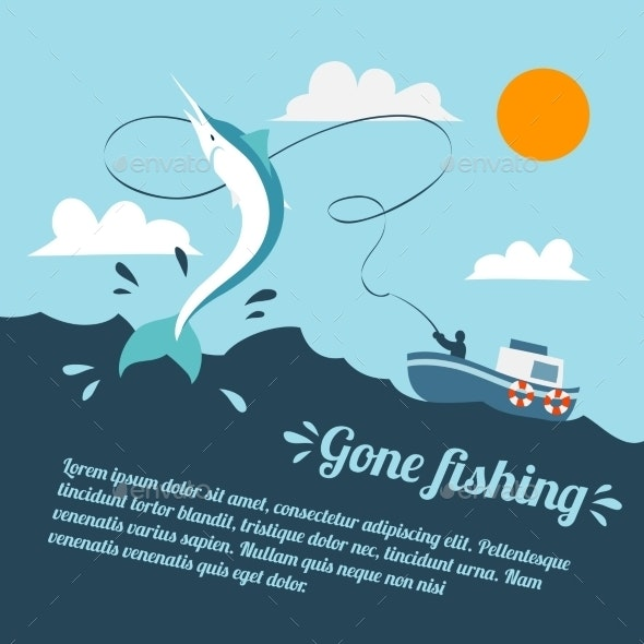 Fishing Boat Poster - Sports/Activity Conceptual