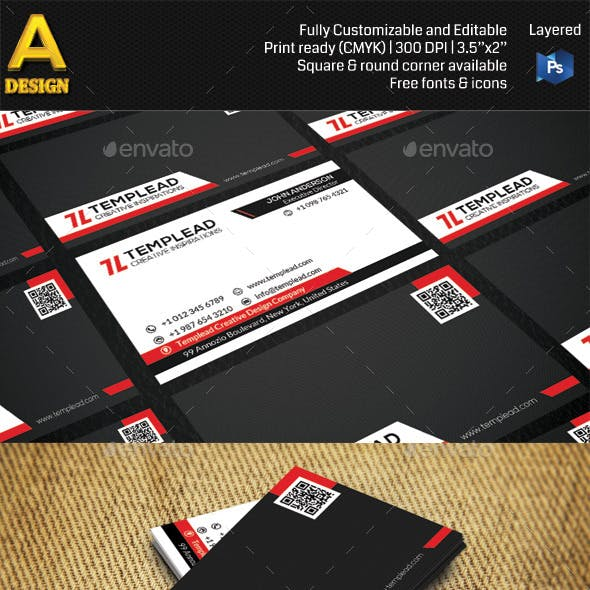 Modern Corporate Business Card AN0434