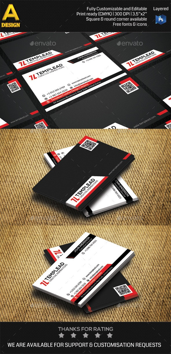 Modern Corporate Business Card AN0434 - Corporate Business Cards