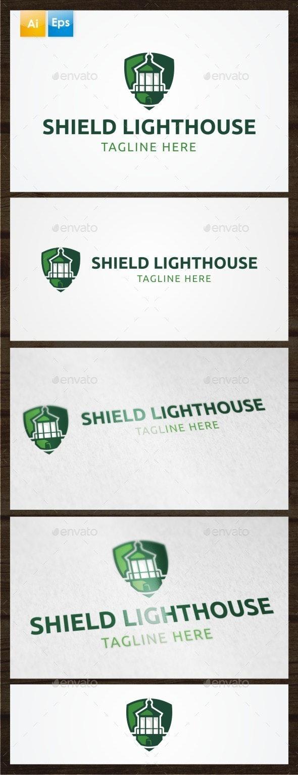 Shield Lighthouse Logo Template - Symbols Logo Templates