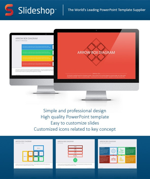 Arrow Box Diagram Flat - Creative PowerPoint Templates