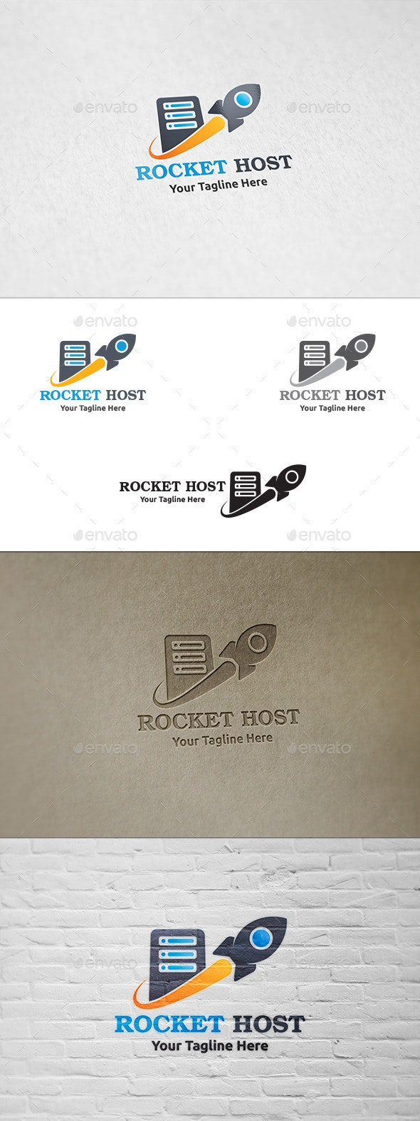 Rocket Host - Logo Template - Objects Logo Templates