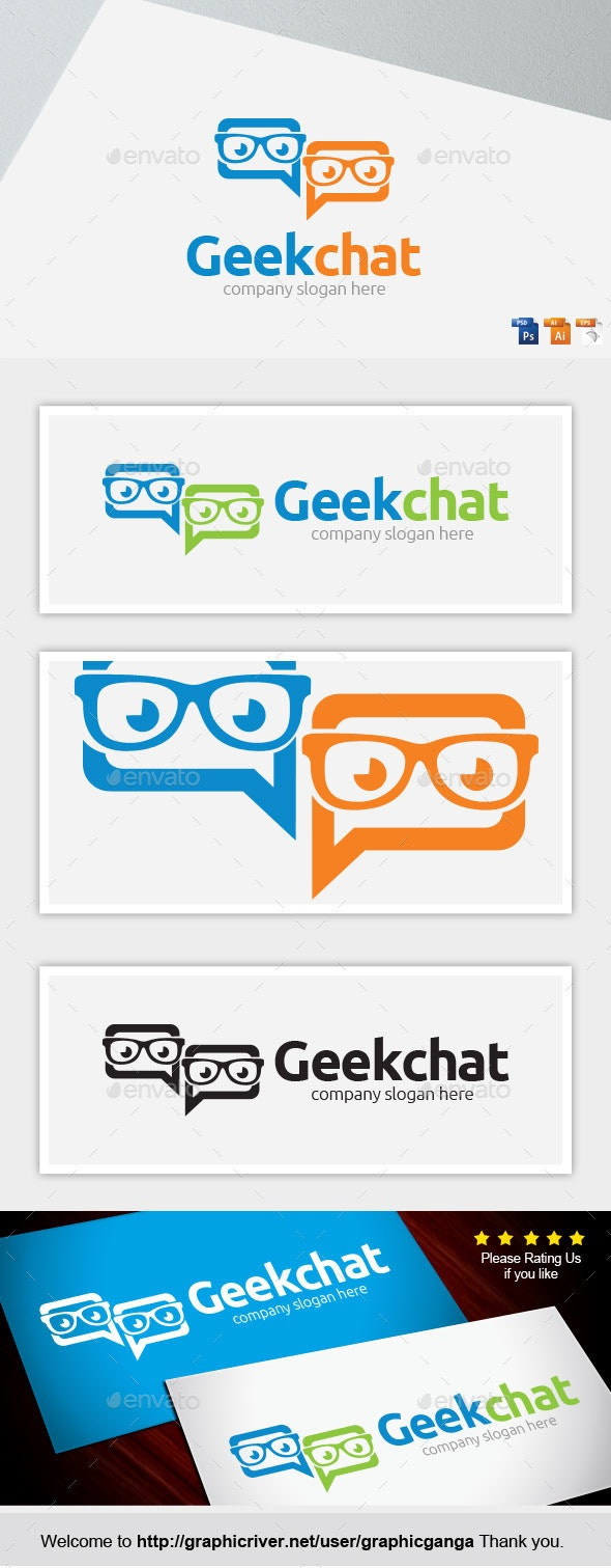 Geek Chat - Abstract Logo Templates