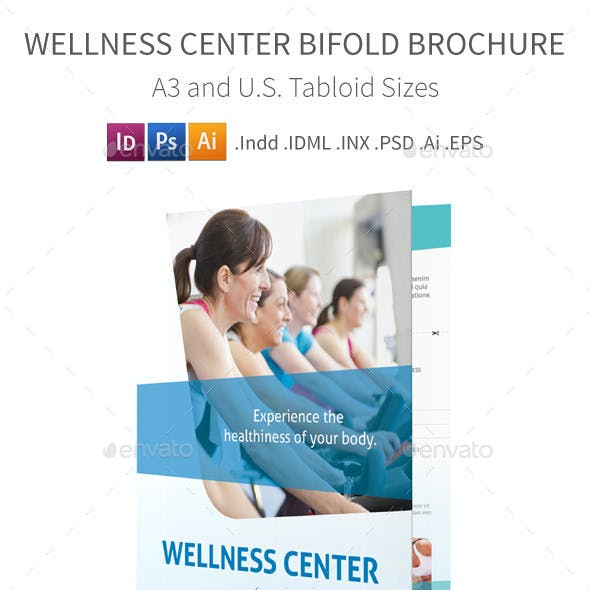 Wellness Center Bifold / Halffold Brochure