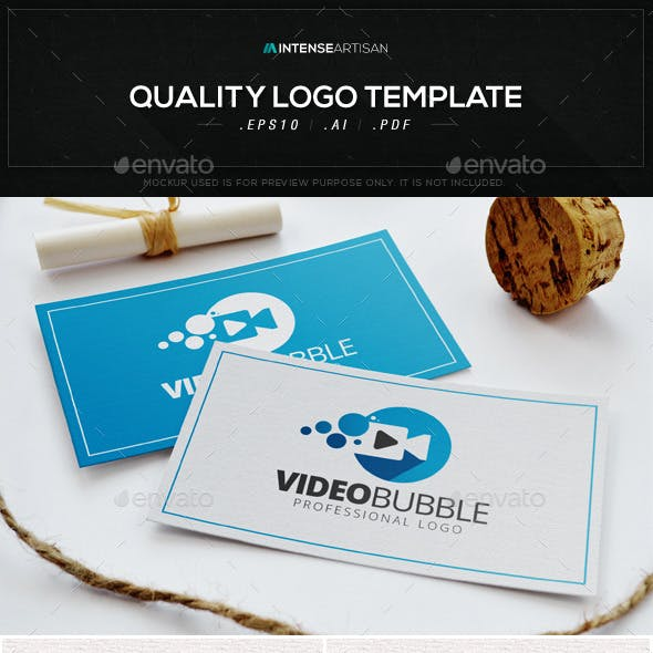 Video Bubble Logo Template