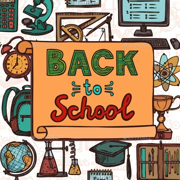 Back to School Poster - Backgrounds Decorative