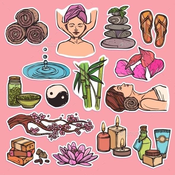 Spa Icons - Health/Medicine Conceptual