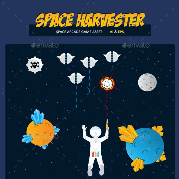 Space Harvester Game Asset