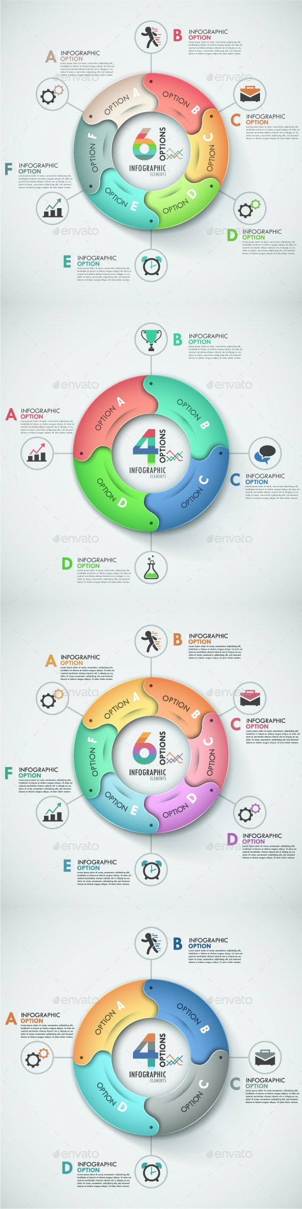 Modern Infographic Options Banner (4 Items) - Infographics
