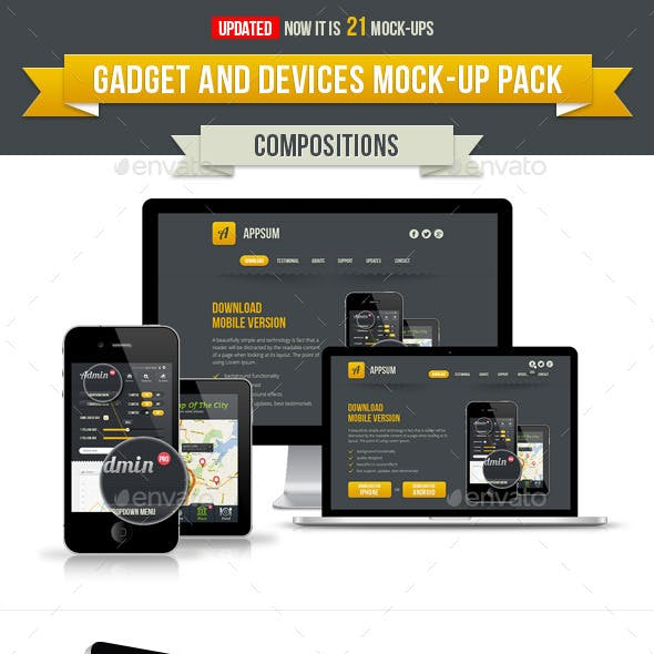 Gadget and Devices APP and Design mockup Pack