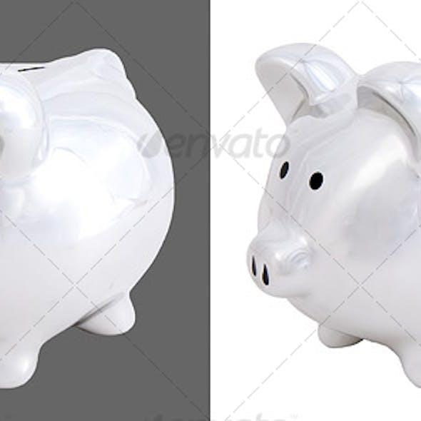 Chrome Piggy Bank