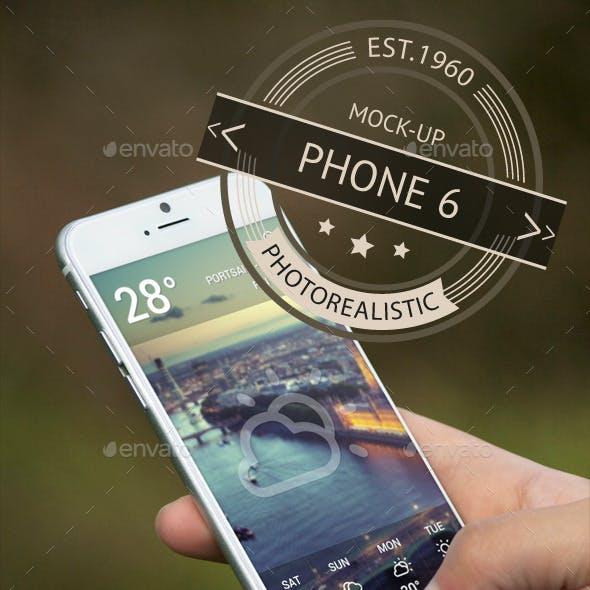 Photorealistic Phone 6 Mock-Up