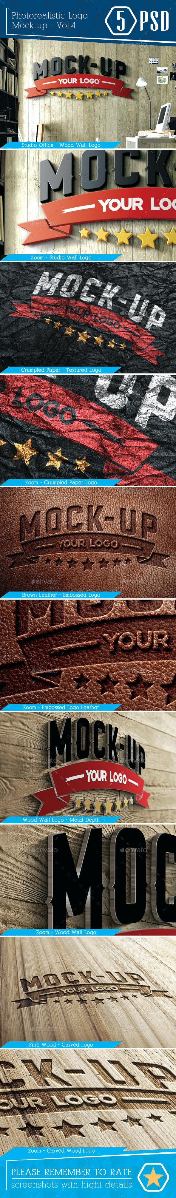Photorealistic Logo Mock-Up Vol.4 - Logo Product Mock-Ups