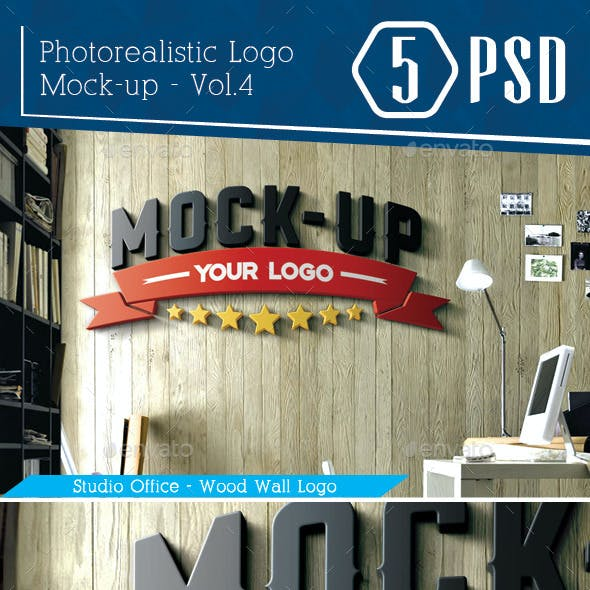 Photorealistic Logo Mock-Up Vol.4
