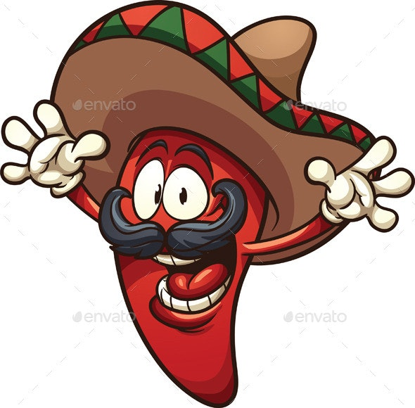 Mexican Chili Pepper - Characters Vectors