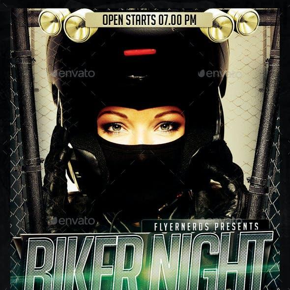 Biker Night Party Flyer