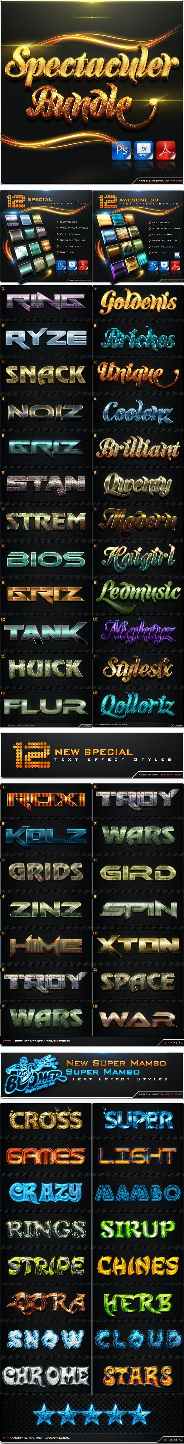 Spectaculer Bundle - Text Effects Styles
