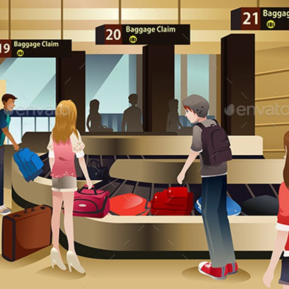 Travelers Waiting for Their Baggage