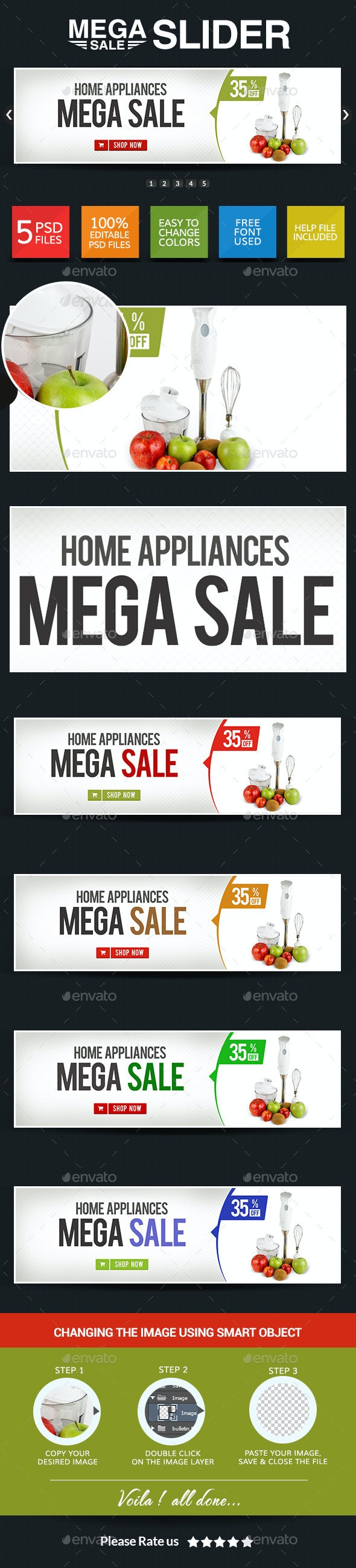 Special Sale Sliders - Sliders & Features Web Elements