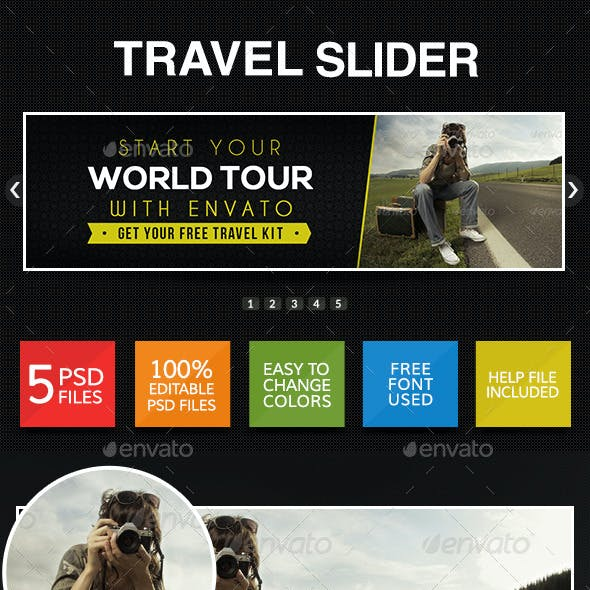 Travel & Tourism Sliders