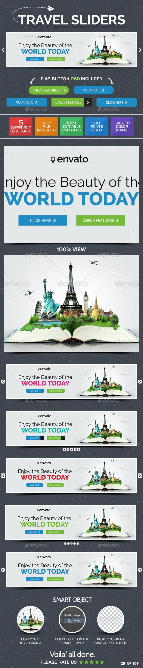 Travel & Tourism Sliders - Sliders & Features Web Elements